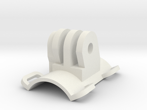 22.2mm Tube Clamp GoPro longitudinal in White Natural Versatile Plastic
