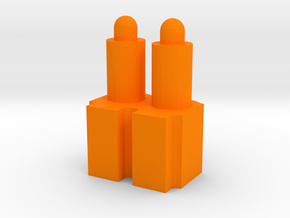 2-Rounds MCX MPX Pellets Seating Tool in Orange Processed Versatile Plastic