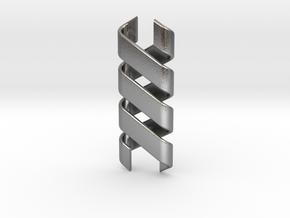 Helix Pendant & Bracelet in Natural Silver