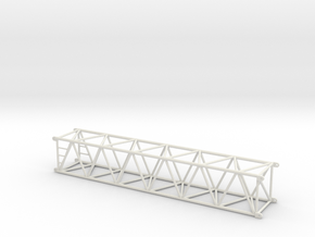 12 M Boom Section in White Natural Versatile Plastic