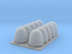 Cyber Samurai Bonsai Clan V7 Rimmed Shoulder Pads in Smooth Fine Detail Plastic