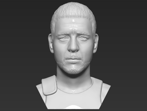 Gladiator Russell Crowe bust in White Natural Versatile Plastic