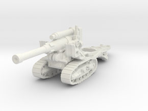 B-4 howitzer 1/72 in White Natural Versatile Plastic