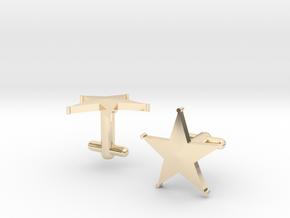 Sheriff's Star Cufflinks (1) Silver,Brass, or Gold in 14K Yellow Gold