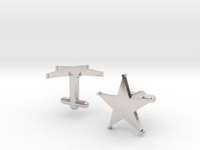 Sheriff's Star Cufflinks (1) Silver,Brass, or Gold in Platinum
