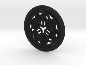 Hangarite Earring  ~ version 6 - 34.5mm in Black Premium Versatile Plastic