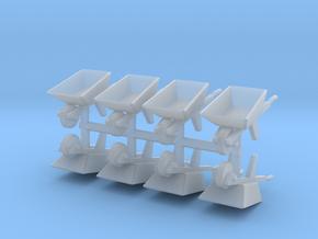 Wheelbarrow (x8) 1/87 in Smooth Fine Detail Plastic