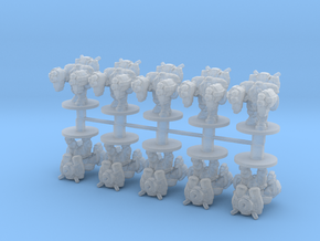 Starcraft Terran Marauders 6mm Infantry Epic micro in Smooth Fine Detail Plastic