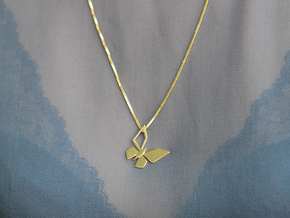 CPH BUTTERFLY PENDANT in Polished Brass