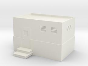 Machine Control Room 1/87 in White Natural Versatile Plastic