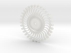 :Steampunk Kaleidoscope: Pendant in Smooth Fine Detail Plastic