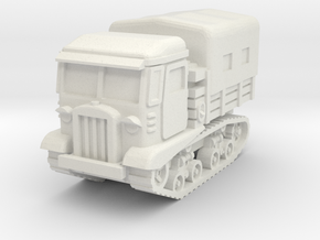 STZ-5 tractor (covered) 1/56 in White Natural Versatile Plastic
