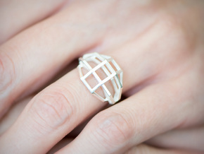 iXi Basic Geometry Ring Size 4.75 in Natural Silver