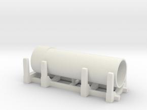 Pipe Transport 1/48 in White Natural Versatile Plastic