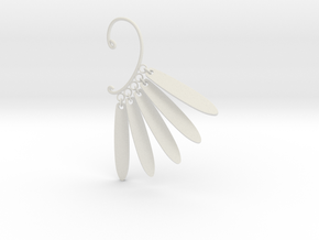Cosplay Dangling Petal Charm Earring (style 2) in White Natural Versatile Plastic