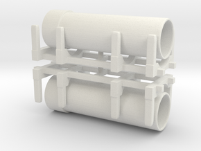 Pipe Transport (x2) 1/160 in White Natural Versatile Plastic