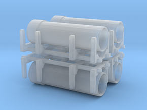 Pipe Transport (x4) 1/400 in Smooth Fine Detail Plastic