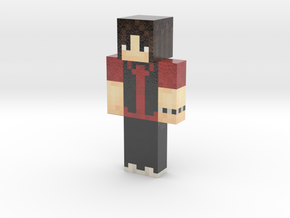 Kaz Red Shirt | Minecraft toy in Glossy Full Color Sandstone