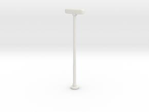 Double Street Lamp 1/64 in White Natural Versatile Plastic