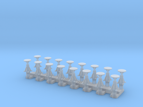 Grappe de 16 tampons Nord pour locomotives, wagons in Smooth Fine Detail Plastic