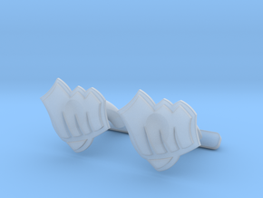 Riot Fist Cufflinks in Smooth Fine Detail Plastic