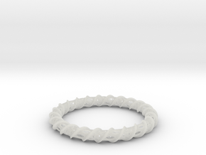 Twisted Column Bangle in Smooth Fine Detail Plastic