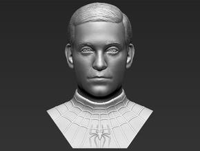 Spider-Man Tobey Maguire bust in White Natural Versatile Plastic