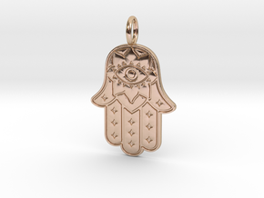 HAMSA HAND in 14k Rose Gold: Small