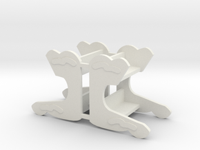 MGR Bench X2 in White Natural Versatile Plastic