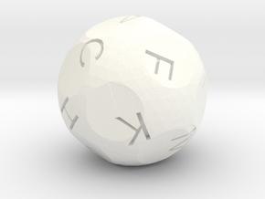 d15 Alphabet in White Processed Versatile Plastic