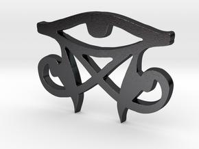 Nun Cyclosis Supreme 3rd Eye in Polished and Bronzed Black Steel: Medium