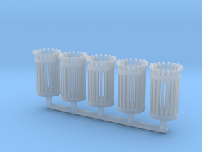 TrashBin 05. 1:87 Scale (HO) in Smooth Fine Detail Plastic