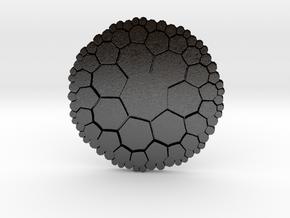 Heptagonal Tiling on the Hyperbolic Plane in Matte Black Steel