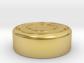Capsa Ring (Cap) in Polished Brass