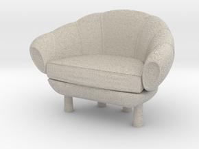 Miniature 1:24 Armchair in Natural Sandstone: 1:24