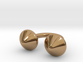Awesome Button Ring in Polished Brass