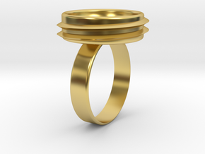 Big Capsa Ring (Body) in Polished Brass