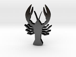 Crayfish Game Piece in Matte Black Steel