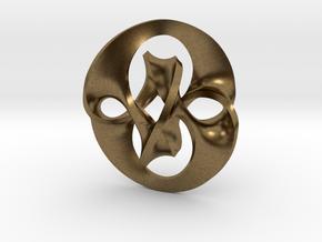 Antichron Pendant for Precious Metals in Raw Bronze