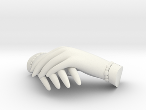 Mourning Hands in White Natural Versatile Plastic
