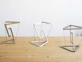 Levitating Anti Gravity Suspension Tensegrity in White Natural Versatile Plastic