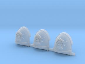 Fist on Thunderbolt Gravus shoulder pads x3 R #1 in Smooth Fine Detail Plastic