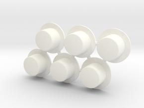 Lo/Tr-10-2020 Hubs for Trailex-London in White Processed Versatile Plastic