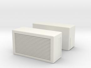 Window AC Unit (x2) 1/43 in White Natural Versatile Plastic