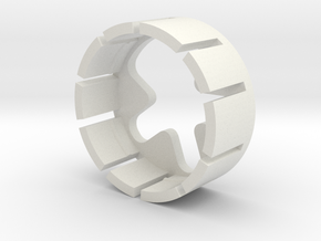 Pariah v3 part-4 (Pogo pin holder) in White Natural Versatile Plastic