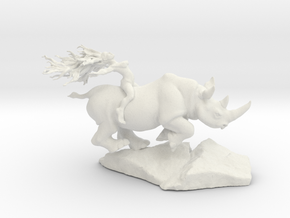 Rhino Rider 12'' tall in White Natural Versatile Plastic