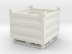 Palletbox Container 1/64 in White Natural Versatile Plastic