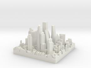 City of London Future Skyscrapers in White Natural Versatile Plastic