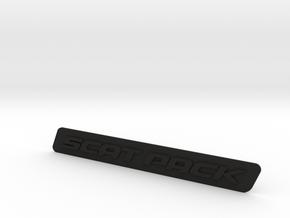 SCAT PACK Badge in Black Natural Versatile Plastic