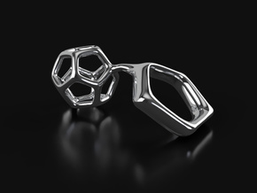 Dodeca Sculptural Ring in Polished Silver